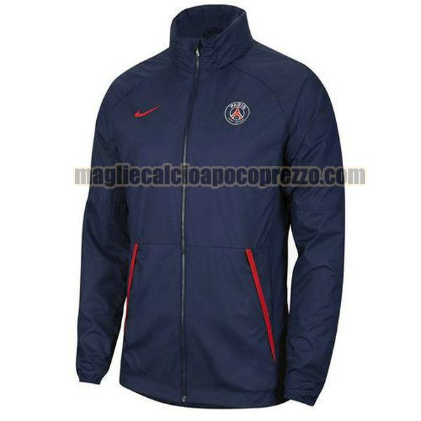 giacca a vento paris saint germain 20-21 blu
