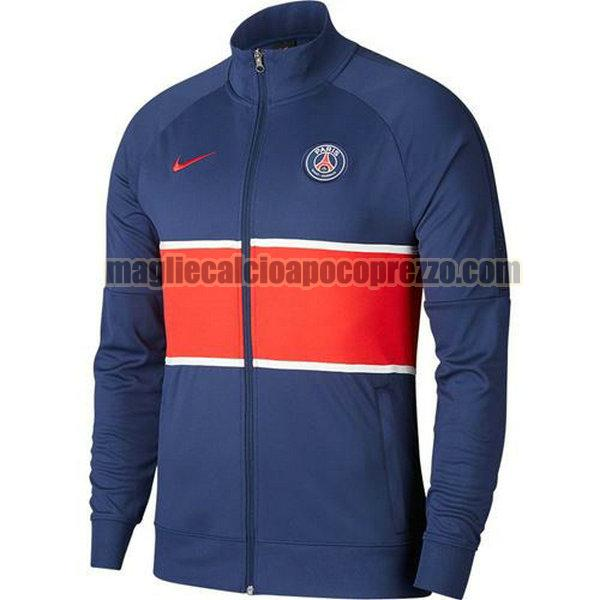 giacca a vento paris saint germain 2020-2021 blu