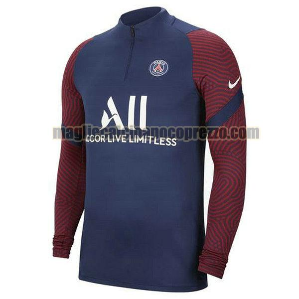 giacca a vento paris saint germain 2020-21 blu