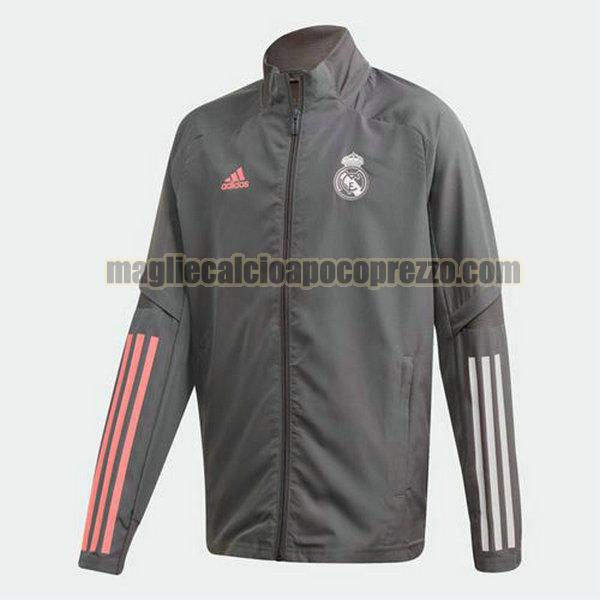 giacca real madrid 2020-2021 grigio