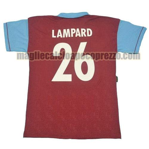 prima divisa maglia west ham 1995 100th lampard 26